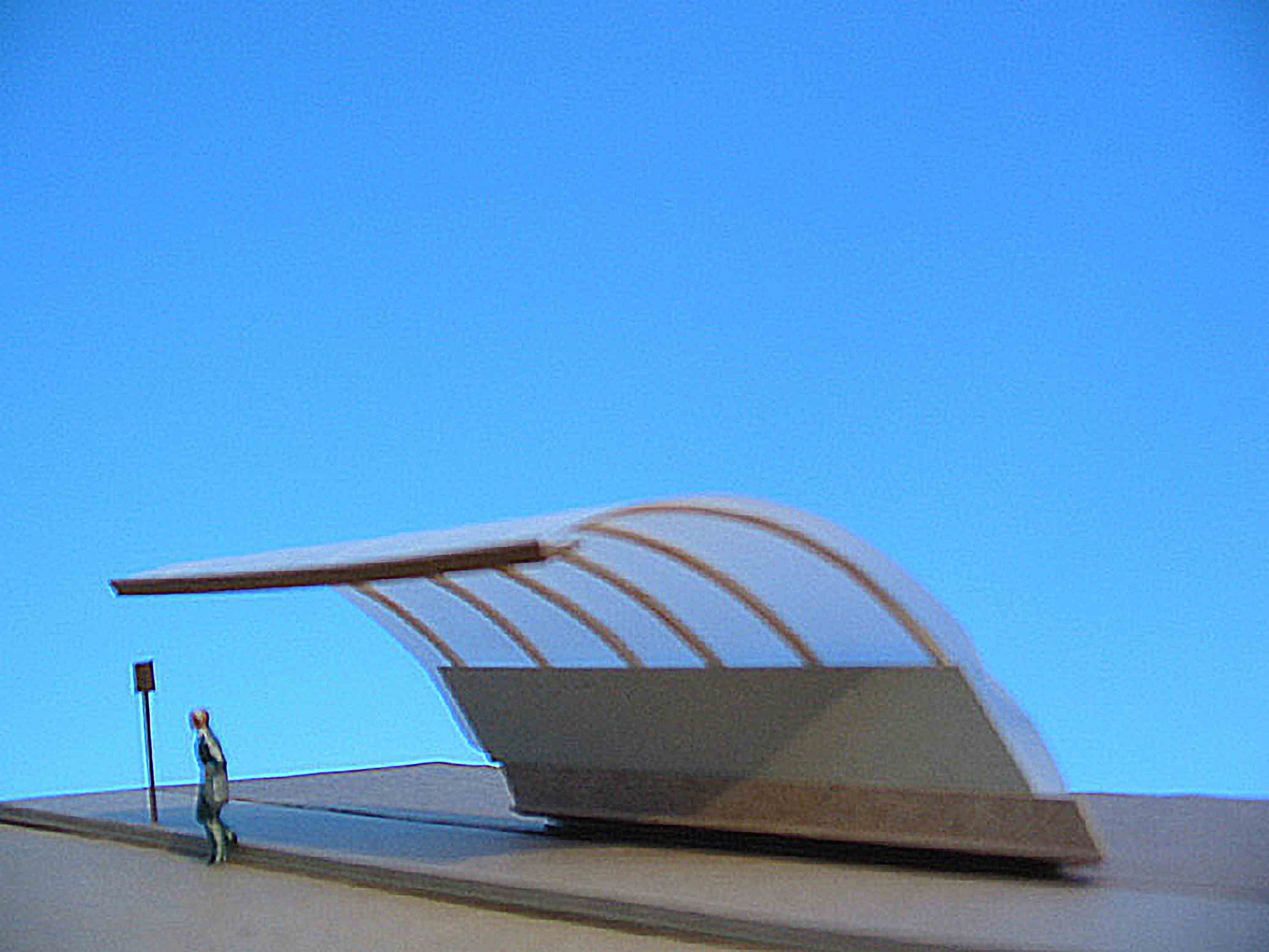 Curved Bus Stop model study