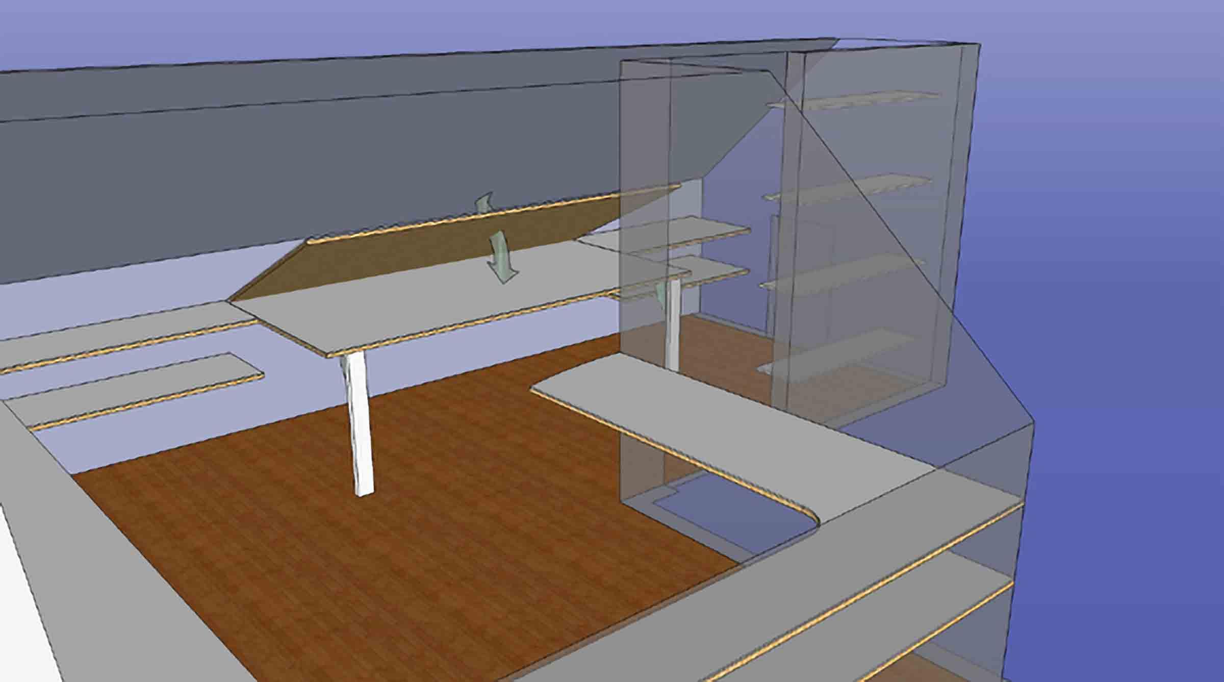 Modular Shelving side view
