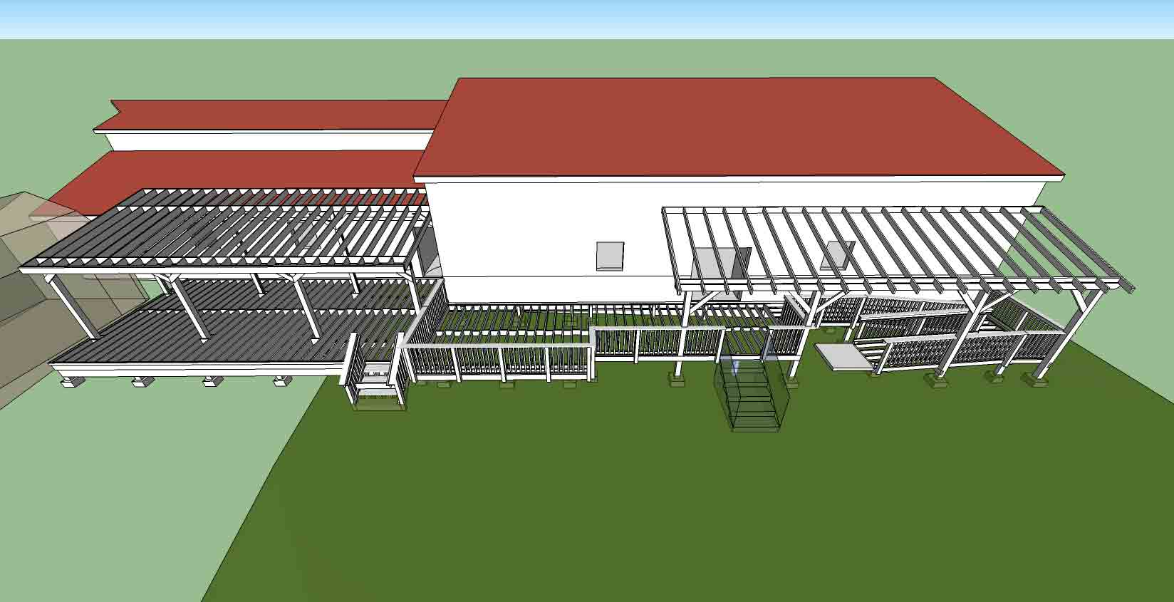 Loading Dock and Deck rendering