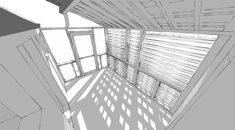 Screen Porch inside rendering