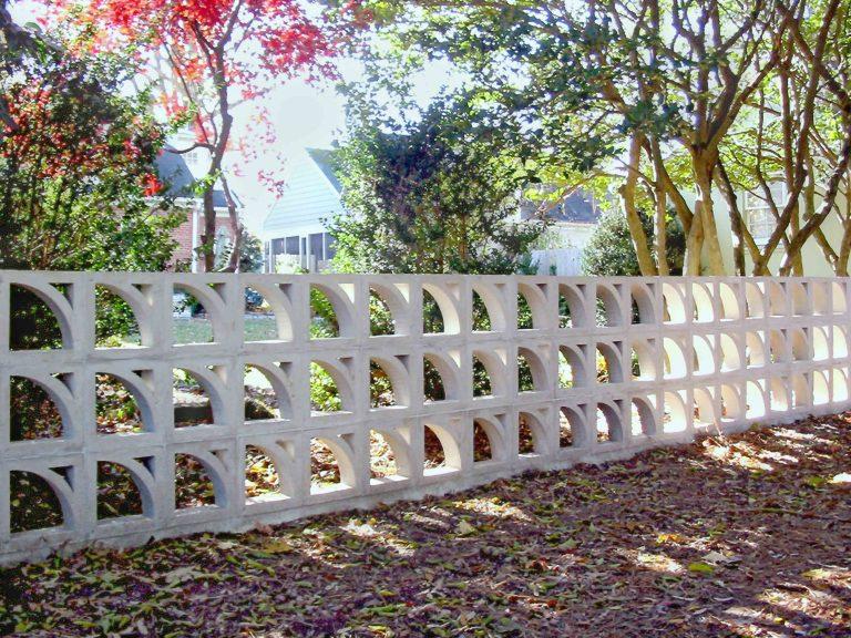 Custom Block Wall back view