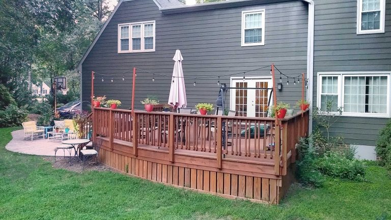 Patio and Deck yard view