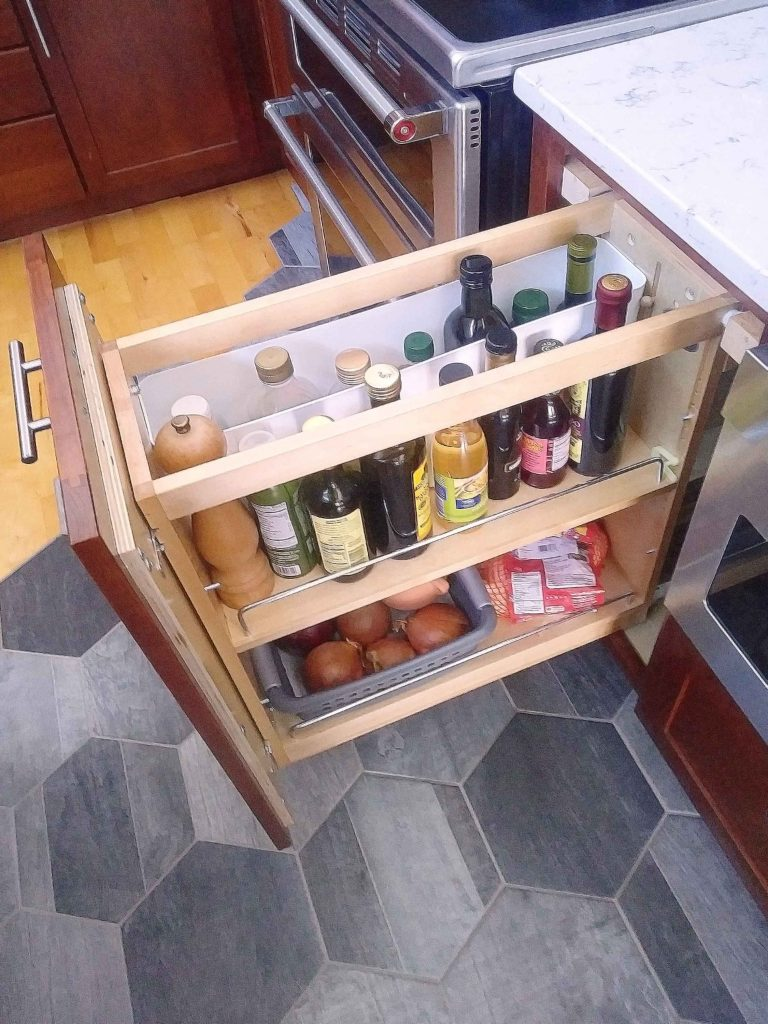Loft Kitchen cooking oils drawer