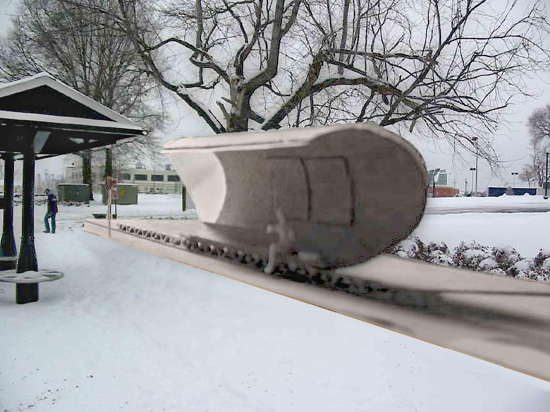 Science Museum of Virginia bus stop model composite