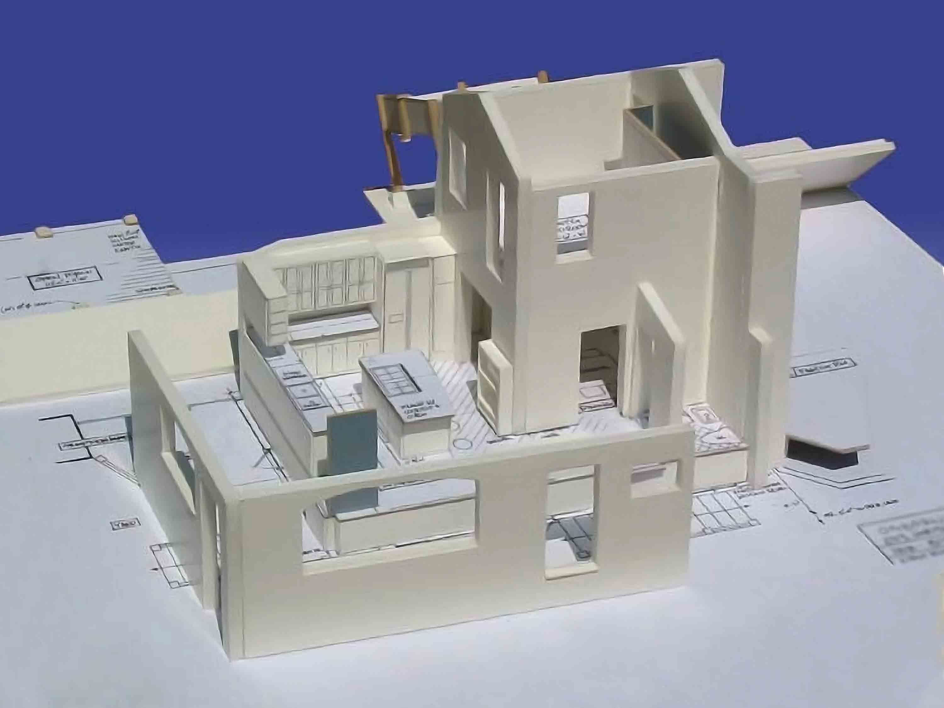 Kitchen and 2nd Floor Addition model study