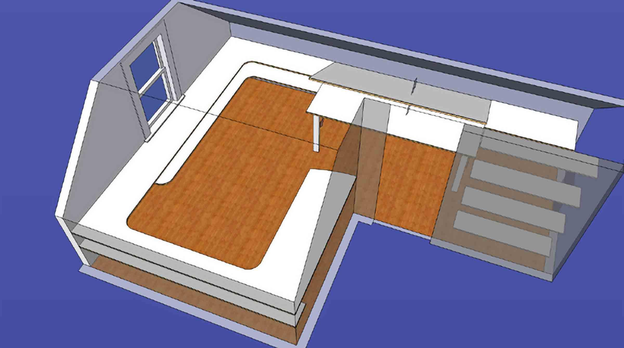 Modular Shelving top view