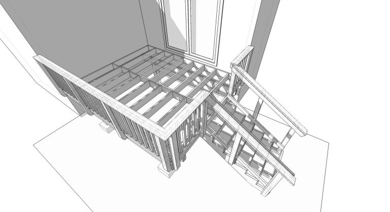 Deck Structure perspective rendering