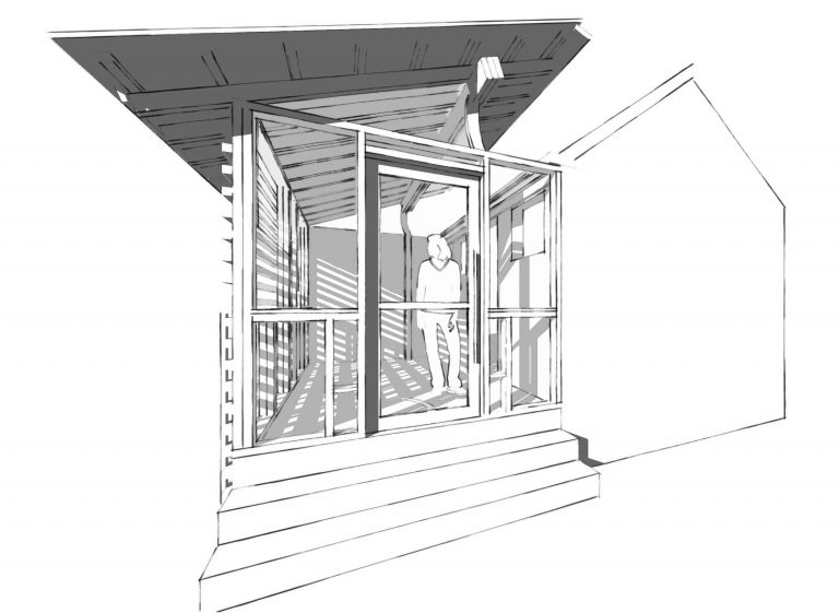 Screen Porch outside rendering